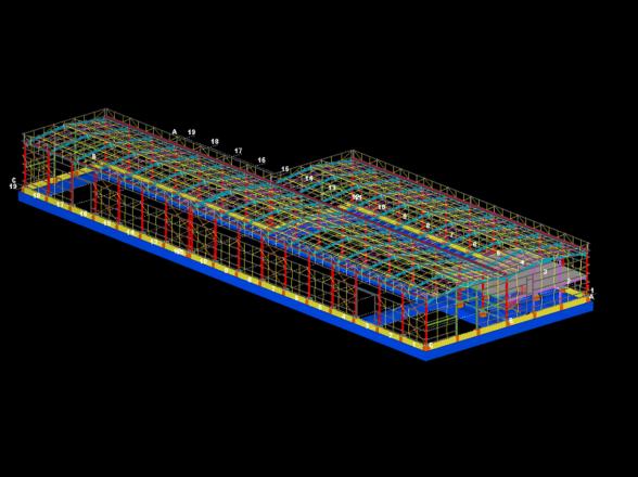 Alkar Turkmenistan Warehouse Structural Design